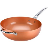 High Street Tv Copper Chef Ccwok12 30 Cm Non-stick Wok - Copper
