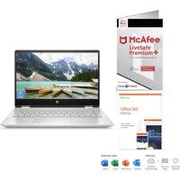 "HP Pavilion x360 14"" 2 in 1 Laptop, Microsoft Office 365 Home & McAfee LiveSafe Premium 2020 Bundle"