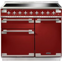 RANGEMASTER Elise 100 Electric Induction Range Cooker - Red and Chrome, Red