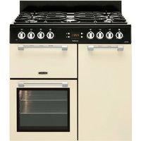 LEISURE Cookmaster 90 Dual Fuel Range Cooker - Cream, Cream