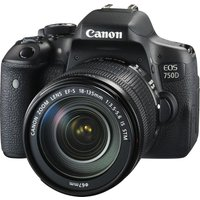 CANON EOS 750D DSLR Camera with EF-S 18-135 mm f/3.5-5.6 IS STM Zoom Lens, Black