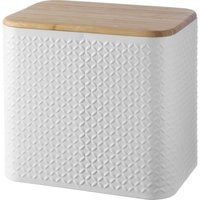 TYPHOON Imprima Diamond Rectangular Bread Bin - White, White