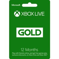 MICROSOFT Xbox Live Gold Membership 12 Month Subscription, Gold
