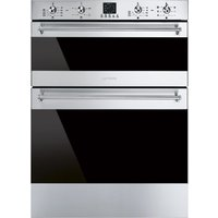 SMEG DUSF636X Electric Built-under Double Oven - Stainless Steel, Stainless Steel