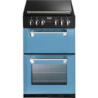 STOVES Richmond Mini Range 550DFW 55 cm Dual Fuel Cooker - Blue & Black, Blue