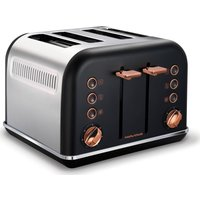 Buy MORPHY RICHARDS Accents 242104 4-Slice Toaster - Black & Rose Gold, Black - Currys