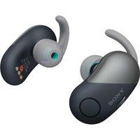 SONY WF-SP700N Wireless Bluetooth Noise-Cancelling Headphones - Black, Black