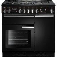 RANGEMASTER Professional 90 Dual Fuel Range Cooker - Black, Black
