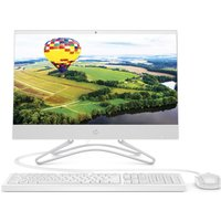 "HP 22-c0047na 21.5"" Intel® Celeron All-in-One PC - 128 GB SSD, White, White"