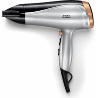 NICKY CLARKE Hair Therapy NHD190 Hair Dryer - Silver & Black, Silver