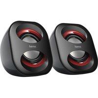 HAMA Sonic Mobil 183 Laptop Speakers - Black & Red, Black