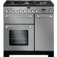 RANGEMASTER  Kitchener 90 Dual Fuel Range Cooker - Stainless Steel & Chrome, Stainless Steel