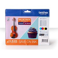 BROTHER LC127XL Black & Tri-Colour Ink Cartridge - Multipack, Black