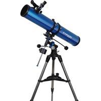 MEADE Polaris 114 EQ Reflector Telescope - Blue, Blue