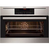 AEG KP8404021M Compact Electric Oven Stainless Steel, Stainless Steel