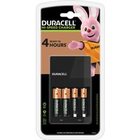 DURACELL CEF14 4-Battery Charger with Batteries.