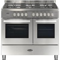 BRITANNIA Sonetto 100DF TC Dual Fuel Range Cooker - Stainless Steel, Stainless Steel