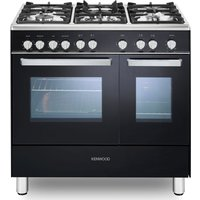 CK407G 90 cm Gas Range Cooker - Black & Chrome, Black