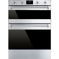 SMEG DUSF6300X Electric Built-under Double Oven - Stainless Steel, Stainless Steel