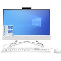 "HP 22-df0005na 21.5"" All-in-One PC - Intelu0026regCore i3, 128 GB SSD, White, White"