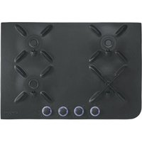 Hoover Hf7 Gas Hob - Black, Black