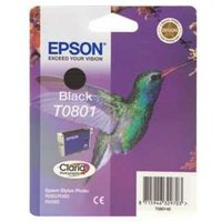 EPSON Hummingbird T0801 Black Ink Cartridge, Black