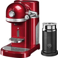 NESPRESSO Artisan Nespresso Hot Drinks Machine with Aeroccino 3 - Candy Apple, Red