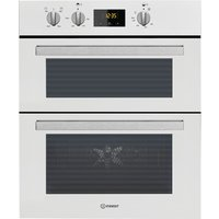INDESIT IDU 6340 Electric Built-under Double Oven - White, White