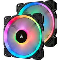 CORSAIR LL140 140 mm Case Fan with Lighting Node PRO   RGB LED  Twin Pack