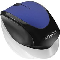 ADVENT AMWLBL19 Wireless Optical Mouse - Blue & Black, Blue