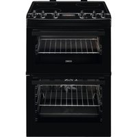 ZANUSSI ZCV66250BA 60 cm Electric Ceramic Cooker - Black, Black