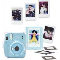 INSTAX mini 11 Instant Camera Bundle - Sky Blue, Blue