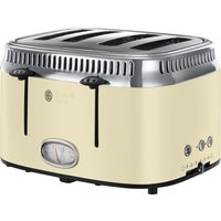 Buy RUSSELL HOBBS Retro 21692 4-Slice Toaster - Cream, Cream - Currys PC World