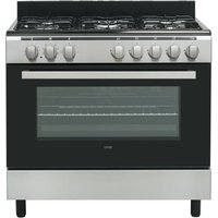 LOGIK LFTG90X18 90 cm Duel Fuel Range Cooker – Stainless Steel, Stainless Steel
