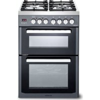 KENWOOD CK234DF SL 60 cm Dual Fuel Cooker - Grey and Chrome, Grey