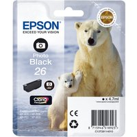 EPSON Polar Bear T2611 Photo Black Ink Cartridge, Black