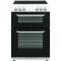 LOGIK LDOC60W17 Electric Cooker - Black and White, Black