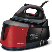 MORPHY RICHARDS Auto-Clean Power Steam Elite 332013 Steam Generator Iron - Black & Red, Black