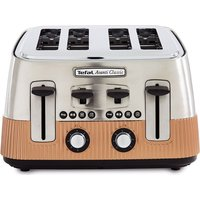Buy TEFAL Avanti Classic 4-Slice Toaster - Copper, Brown - Currys PC World