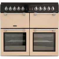 LEISURE Chefmaster CC100F521C 100 cm Dual Fuel Range Cooker - Cream & Black, Cream