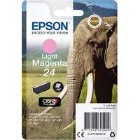EPSON 24 Elephant Light Magenta Ink Cartridge, Magenta