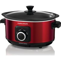 MORPHY RICHARDS Evoke Sear & Stew 460014 Slow Cooker - Red, Red