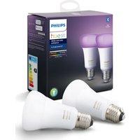 PHILIPS Hue White   Colour Ambiance Bluetooth LED Bulb   E27  Twin Pack  White