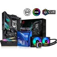 PC SPECIALIST Intel®u0026regCore i9 Processor, ROG STRIX Motherboard, 16 GB RAM & Corsair RGB Cooler Components Bundle