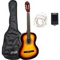 3RD AVENUE STX20 3/4 Size Classical Guitar Bundle - Sunburst