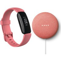 FITBIT Inspire 2 & Nest Mini (2nd Gen) Bundle - Desert Rose & Coral, Coral.