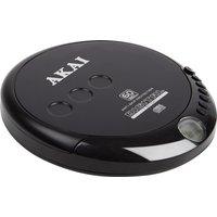 AKAI A61007 Personal CD Player - Black, Black