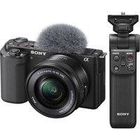 SONY ZV-E10L Mirrorless Vlogging Camera, 16-50 mm OSS Lens & GP-VPT2BT Shooting Grip Bundle.