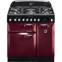 RANGEMASTER Elan 90 Dual Fuel Range Cooker - Cranberry & Chrome, Cranberry