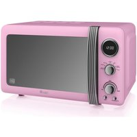 SWAN Retro SM22030PN Solo Microwave - Pink, Pink